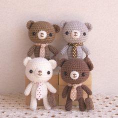 Crochet Patterns Amigurumi, Amigurumi Doll, Crochet Dolls, Knitting Patterns, Knit Crochet, Kids Board, Cute Little Things, Crochet Animals, Teddy Bear