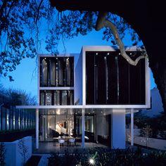 Casa com arquitetura linear
