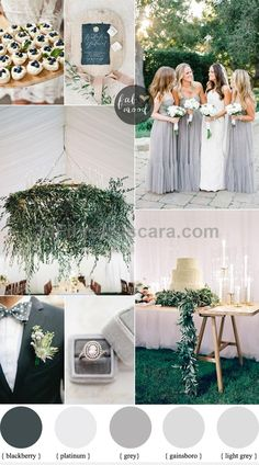 If you're planning a bright,sunny outdoor summer wedding that is simple yet elegant,It's this lovely Shades of Grey wedding theme,combined with white,light #weddings #wedding #marriage #weddingdress #weddinggown #ballgowns #ladies #woman #women #beautifuldress #newlyweds #proposal #shopping #engagement