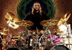 Danny Carey - jazz trained drummer from Lawrence, Kansas, renowned for complex rhythms and exceptional double bass work in progressive metal band, Tool.