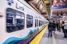 Go green: Riding the new light-rail route is fun, and better for the planet Seattle Coffee, Light Rail, Family Outing, Modern Photography, Fun Events, Road Trippin, Go Green, Summer Activities, Pacific Northwest