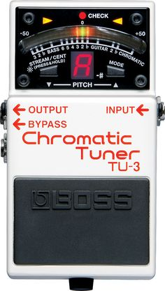 TU-3: Chromatic Tuner - The New World-Standard Tuner Has Arrived