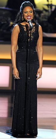 Who made Jennifer Hudson's black lace gown and jewelry that she wore in Las Vegas on March 10, 2012? Dress – Ralph & Russo couture  Jewelry – H Stern