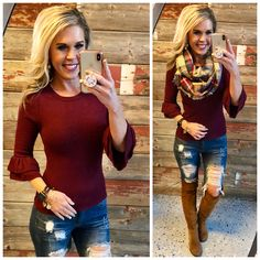 Favorite Time Burgundy Sweater from privityboutique
