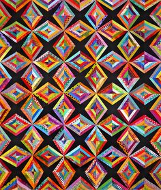 This unique patchwork quilts is seriously an interesting design theme. Patchwork Quilt Patterns, Crazy Patchwork, Crazy Quilting, Beginner Quilting, Quilting Patterns, Bargello Quilts, Scrappy Quilts, Amish Quilts, Big Block Quilts