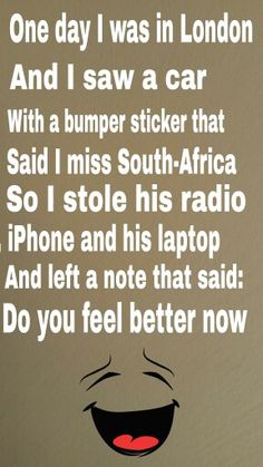Hahaha funny South-African people would know