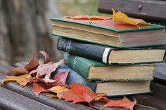 fall leaves and books...a perfect combination
