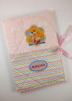 Capa para caderneta de vacina - Aurora - Bela Adormecida
