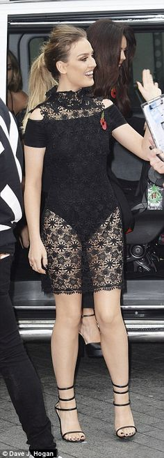 Little Mix's Perrie Edwards flashes derriere at Teen Awards | Daily Mail Online
