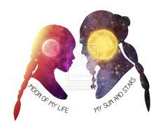 Moon of My Life - My Sun and Stars by KayyDoll #GameofThrones Daenerys Targaryen, Khaleesi, Drogo, Love, Couple, Art, Game of Thrones
