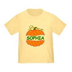 Custom Pumpkin with name Sophia T-Shirt
