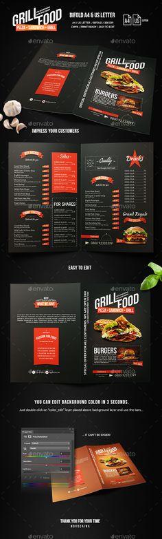 Restaurant Food Menu Food menu, Menu printing and Print templates - a la carte menu template
