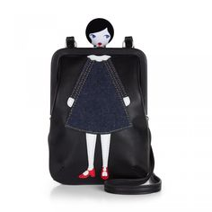Lulu Doll Face Mini Lana: <p>Take a little bit of Lulu with you everywhere you go with the Mini Lana, a super soft mini cross body. Our striking Doll Face motif and silver tone hardware combine to offer both practical and statement style.</p> - Visit Lulu Guinness at http://www.luluguinness.com/