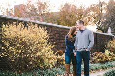 Pittsburgh Pennsylvania Wedding Photographer - Engagement Session - Fall - Mellon Park
