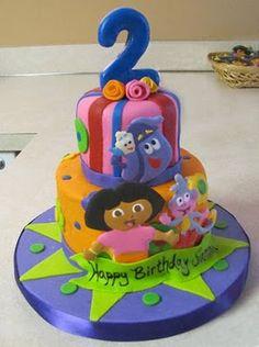 Dora cake idea - Mattilyn loves Backpack!