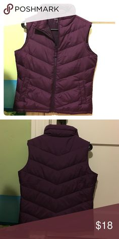 Vest Purple vest by lands end. Great condition, barely ever used! Comfortable and warm, goes great over any shirt and outfit. Lands' End Jackets & Coats Vests