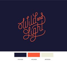 Wild and Light Branding and Web Design by Sabrina Smelko, via Behance
