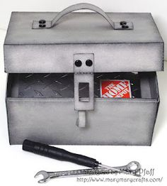 Tool Box gift card holder- with instructions!