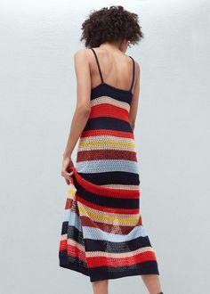 Vestido crochet algodón | MANGO
