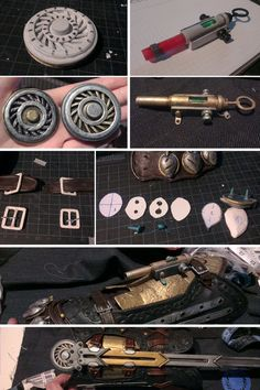 by Pearlite on DeviantArt Cosplay Weapons, Cosplay Armor, Evie Frye Cosplay, Assassin's Creed Hidden Blade, Nightwing Cosplay, Assassins Creed Cosplay, Leather Bracers, Cosplay Tutorial, Leather Working