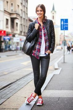 20 Ways to Wear Colored Converse   StyleCaster