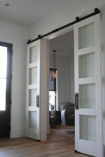 Sliding doors to office - Could be more transparent like these, could be solid