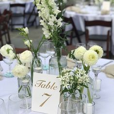 Welcome to Nikki Glekas Events White Floral Centerpieces, All White Wedding, White Flowers, Wedding Events, Florals, How To Memorize Things, Table Decorations, Design, Floral