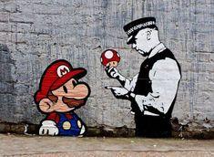 Details zu Banksy Poster Super Mario Leinwanddruck 8 x 12 & 12 x 17 Street Art Graffiti - Street Art Trend 2019 Banksy Posters, Banksy Graffiti, Graffiti Quotes, Art Quotes, Banksy Canvas Prints, Canvas Wall Art, Game Boy, Street Art Graffiti, Super Mario