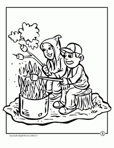 coolest camping coloring page httpcoloringalifiahbizcoolest coloring pagescamping - Skylanders Coloring Pages Jet Vac