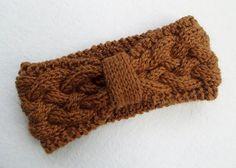 Women Knitted Headband in Deep Ochre by Need4KnitShop on Etsy