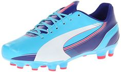 PUMA Womens Evospeed 53 FG Training Shoe Blue AtollWhiteClematis BlueBright Plasma 6 B US * You can get more details by clicking on the image.(This is an Amazon affiliate link and I receive a commission for the sales)