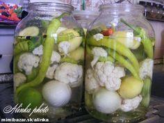 Pripravíte si nálev zo všetkých korenín a tekutín (nevariť!!! ). Nálev odložte na 24 hodín do chladu... Fruit Preserves, Kimchi, Pasta Salad, Pickles, Potato Salad, Cucumber, Cauliflower, Salads, Pesto