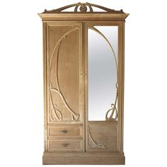 Art Nouveau Armoire - France, Early 20th Century | From a unique collection of antique and modern wardrobes and armoires at http://www.1stdibs.com/furniture/storage-case-pieces/wardrobes-armoires/