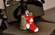 Christmas Tree Stocking with Tiny Wrapped Gifts by Jenny Tomkins Wrapped Gifts, Christmas Stockings, Christmas Tree, Stocking Tree, Online Boutiques, Dollhouse Miniatures, Artisan, Gift Wrapping, Holiday Decor