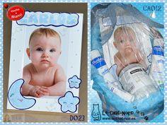 Canastilla primeras marcas, con marco de fotos personalizado para Carlos. Hecho a mano. www.le-chat-noir.es/canastillas #bebe #nacimiento #baby #babyshower #canastilla #bautizo #mustela #suavinex http://www.facebook.com/pages/Le-Chat-Noir/113710975370328
