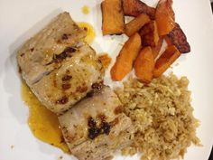Mahi Mahi in Citrus Sauce with Healthy Fried RIce and Roasted Butternut Squash