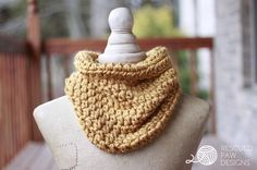 Quick One Hour Cowl - Crochet Pattern - Rescued Paw Designs: