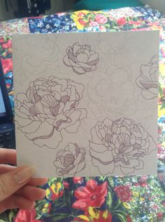 New greeting card #floral #greetingcard #art #fineliner