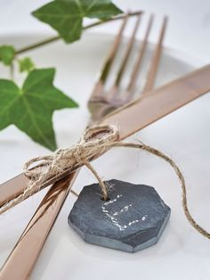 Make your own advent display by hanging these rustic octagonal slate labels around a series of plain candles. Candle Accessories, Home Decor Accessories, Christmas Table Decorations, Festival Decorations, Scandi Chic, Table Place Settings, Woodland Decor, The Bell Jar, Christmas Past
