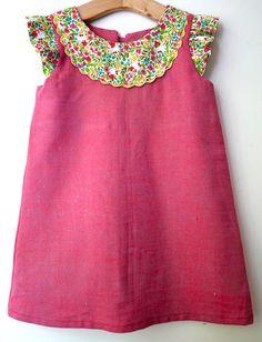 Size 3 Raspberry Pink Red Liberty Kitty dress