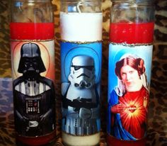 Count your blessings and say your prayers with these Star Wars prayer candles. Whether you wish to pray to the Dark Side or whisper sweet nothings to the. Christmas Horror Movies, Star Wars Jewelry, Star Wars Personajes, Star Wars Crafts, Movie Decor, Star Wars Light Saber, Star Wars Humor, Star Wars Characters, Princess Leia