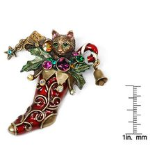 It come in red WoHoo ! Sweet Romance Christmas Stocking Pin - Overstock™ Shopping - Big Discounts on Sweet Romance More Fashion Jewelry