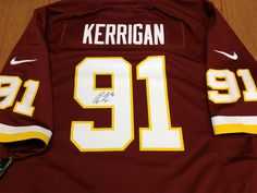 Bid on this Washington Redskins jersey signed by Ryan Kerrigan #91! Comes with a certificate of authenticity from the Washington Redskins. Donated by: Washington Redskins.