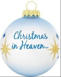 personalized christmas in heaven glass ornament - Merry Christmas In Heaven
