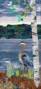 Landscape Quilt of crane
