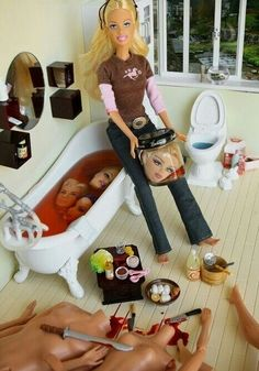 Do you think Barbie used a timer on his iphone to take this picture, or does she have an accomplice?