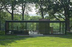 Home Designing: Philip Johnson Glass House Interior Design Farnsworth House, Philip Johnson Glass House, Johnson House, Johnson Johnson, Glass House Design, Home Interior, Interior Walls, Interior Design, House Tours