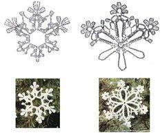 снежинки крючком для начинающих - Поиск в Google