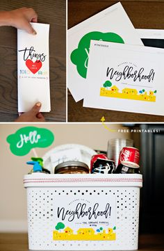"""Creative """"Welcome Neighbor"""" Gift Ideas + Coca-Cola Giveaway // Hostess with the Mostess® Welcome Gift Basket, Welcome Baskets, Welcome Gifts, Gift Baskets, Birthday Gifts For Girlfriend, Friend Birthday Gifts, New Neighbor Gifts, Welcome New Neighbors, 50th Birthday Quotes"""