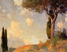 "John Singer Sargent, ""A Landscape Study at San Vigilio, Lake of Garda"""